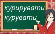 Як буде українською «курировать»?